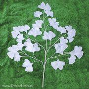 гинкго билоба белая на ветке, искусственные цветы для свадебного декора