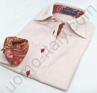 (арт.0038) Женская блузка розовая Alessandro Perla