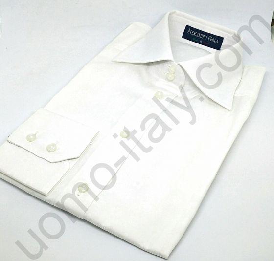 (арт.0031) Женская блузка Alessandro Perla белая с набивным рисунком