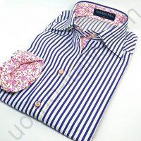 (арт.0027) Женская блузка Alessandro Perla в синею полоску ( последний размер 52( xl))