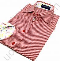 (арт.0039) Женская блузка Alessandro Perla в красную клетку