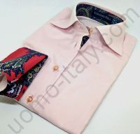 (арт.0036) Женская блузка Alessandro Perla розовая под запонку