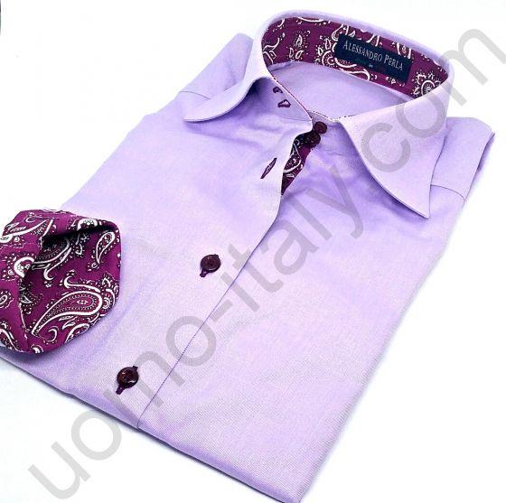 (арт.0040) Женская блузка лиловая Alessandro Perla