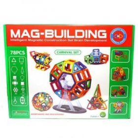 Магнитный конструктор MAG-BUILDING - 78 деталей!