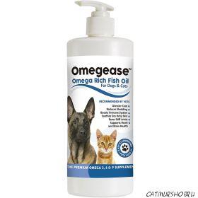 Omegease - Omega Rich Fish Oil для кошек и собак 473 мл. - срок апрель 2019 г. !