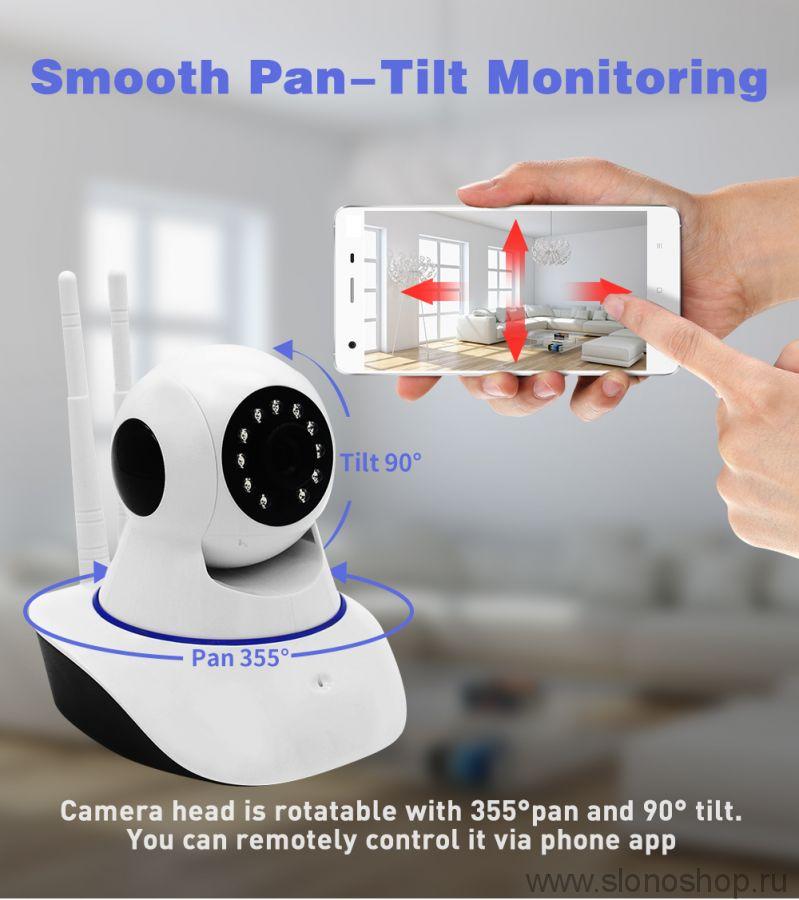 Беспроводная IP WiFi камера с микрофоном видео няня 720P HD Sdeter