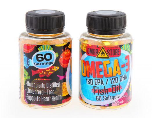 OMEGA-3 Fish Oil 60 капсул (рыбий жир)