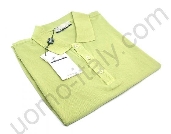 Мужская рубашка-поло Giorgio Porta короткий рукав оливковый цвет
