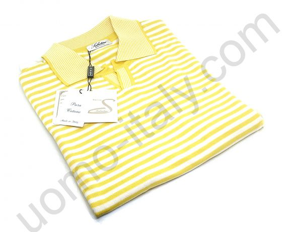 Рубашка-поло в желтую полоску