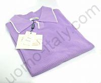 Рубашка-поло сиреневая рогожка (последний размер 48)