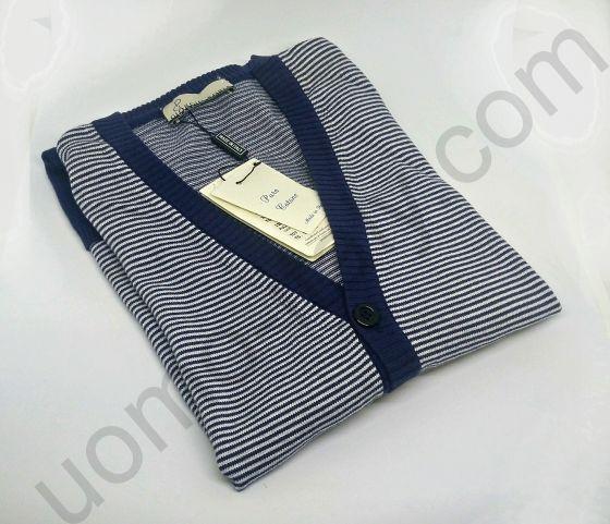 (арт.11211) Кардиган в полоску на пуговицах Giorgio Porta с кармашками (последний размер 50)