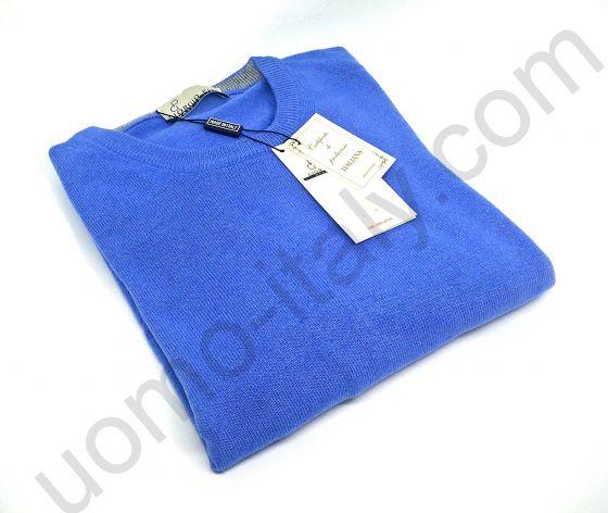 (Новинка) Джемпер голубой с круглым вырезом (последний размер 56)