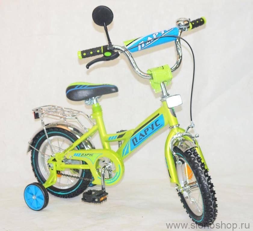 Велосипед парус 20 д. GW ( салатовый, черно-крас)