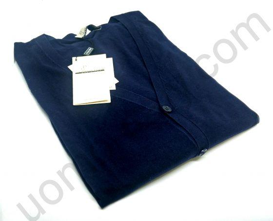(арт.12209) Кардиган на пуговицах Giorgio Porta синий с локтями (последний размер 48)