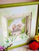 "Cross stitch pattern ""On the bridge""."