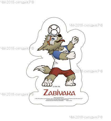 Наклейка на автомобиль Забивака с мячом на голове 14,8 х 21 см  2018 FIFA World Cup Russia