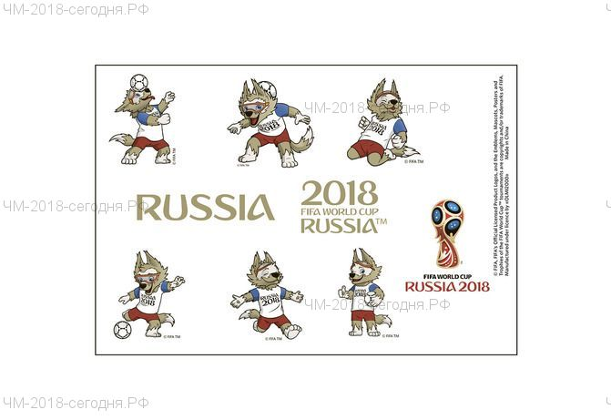 Тату для тела 17*16 см 2018 FIFA World Cup Russia