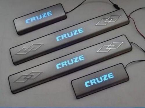 Накладки на пороги светящиеся Chevrolet Cruze
