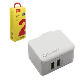 Зарядное устройство (2USB) 2,4A + кабель micro usb