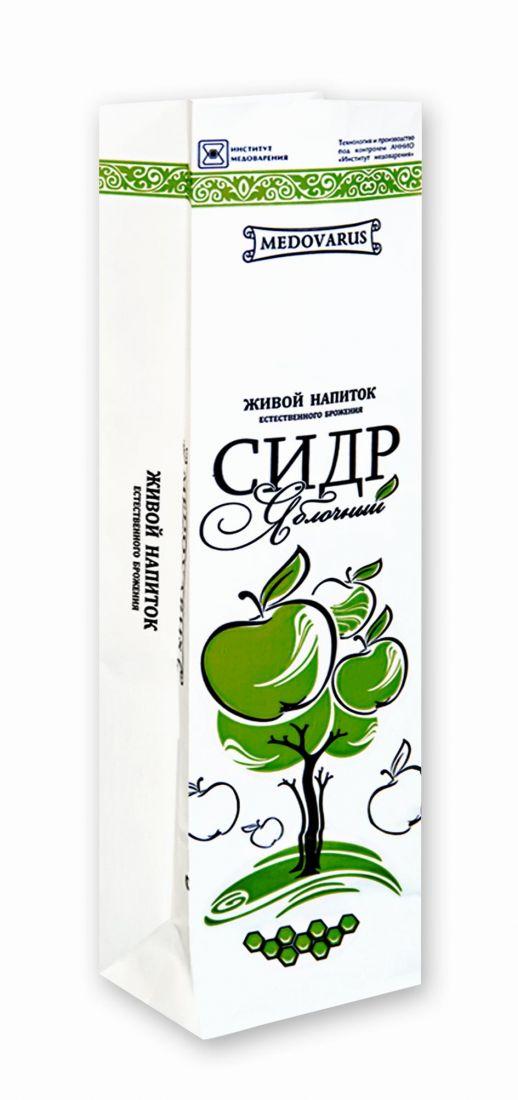 СИДР ЯБЛОЧНЫЙ ПОЛУСЛАДКИЙ В КРАФТ-ПАКЕТЕ
