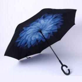 Умный зонт- Цвет-Синий цветок