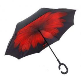 Умный зонт- Цвет-Красный цветок