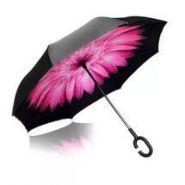 Умный зонт- Цвет-Розовый цветок