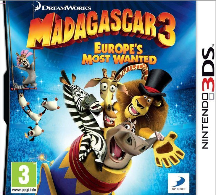 Игра Madagascar 3 Europe's Most Wanted (Nintendo 3DS)