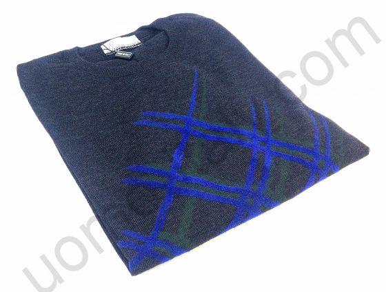 Джемпер шерсть с принтом темно-серый