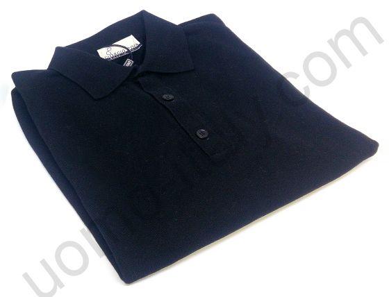 Рубашка-поло Giorgio Porta трикотажная длинный рукав черная