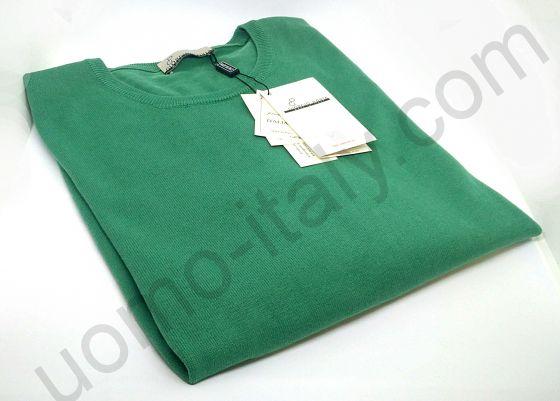 Джемпер зеленый с круглым вырезом.(последний размер 54)