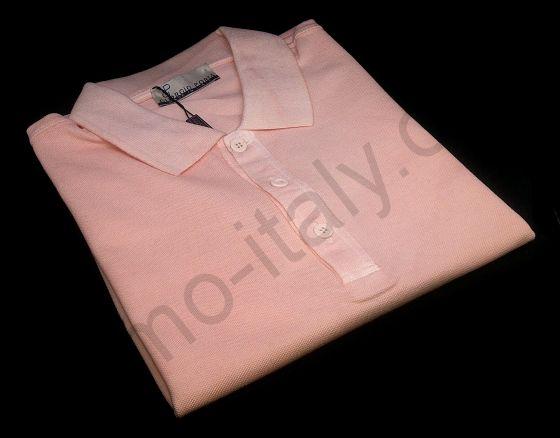 Мужская рубашка-поло Giorgio Porta короткий рукав розовая