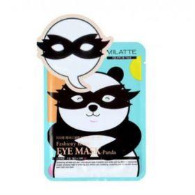 Milatte Fashiony Black Eye Mask Panda - тканевые патчи против темных кругов, морщин, отеков