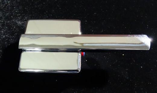 Ручка переключения горхол воды пластик хром квадратная