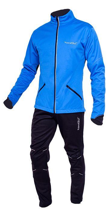 Разминочный костюм NordSki Premium Black/Blue