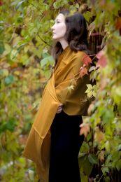 Палантин из шерсти с кашемиром цвета Осенней листвы (Москва)