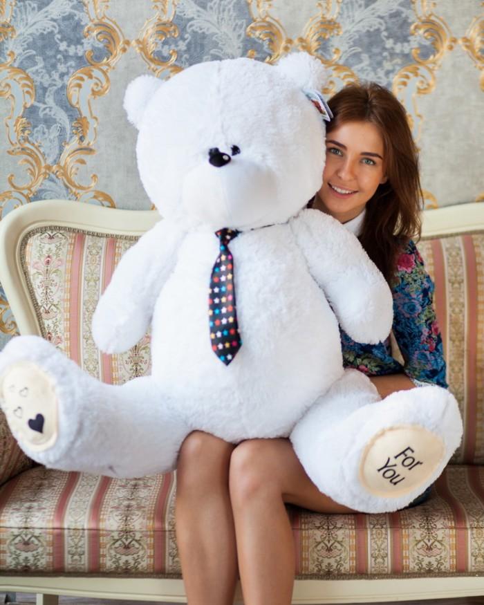 Тедди 130см белый
