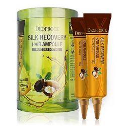 Deoproce Silk Recovery Hair Ampoule 10g - сыворотка для волос восстанавливающая