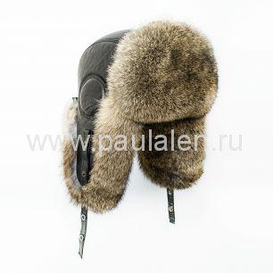 Мужская шапка ушанка из меха кролика B043