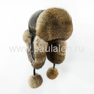 Женская шапка ушанка из меха кролика. A003
