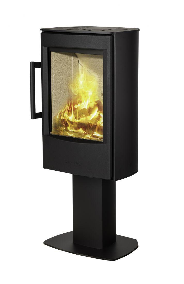 Отопительная печь WIKING Miro 2 на пьедестале, цвет черный/серый
