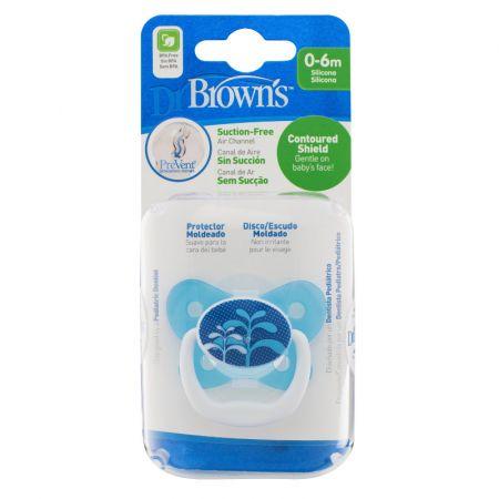 Dr.Brown's Пустышка PreVent БАБОЧКА, 0-6 месяцев, с крышкой, для мальчиков. (арт. PV11404)