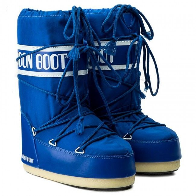 Moon Boot Nylon Electric Blue (детские) / 23-26, 27-30, 31-34.