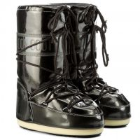 Moon Boot Vinyl Met Black Kids / 27-30, 31-34.