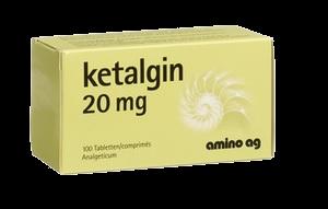 Кеталгин (Метадон) 20мг N100