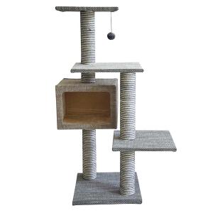 Игровой комплекс-когтеточка Ferribiella Tiragraffi Elegante Кубизм для кошек 70х55х113см
