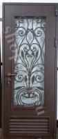 металлические технические двери с вентиляционной решеткой