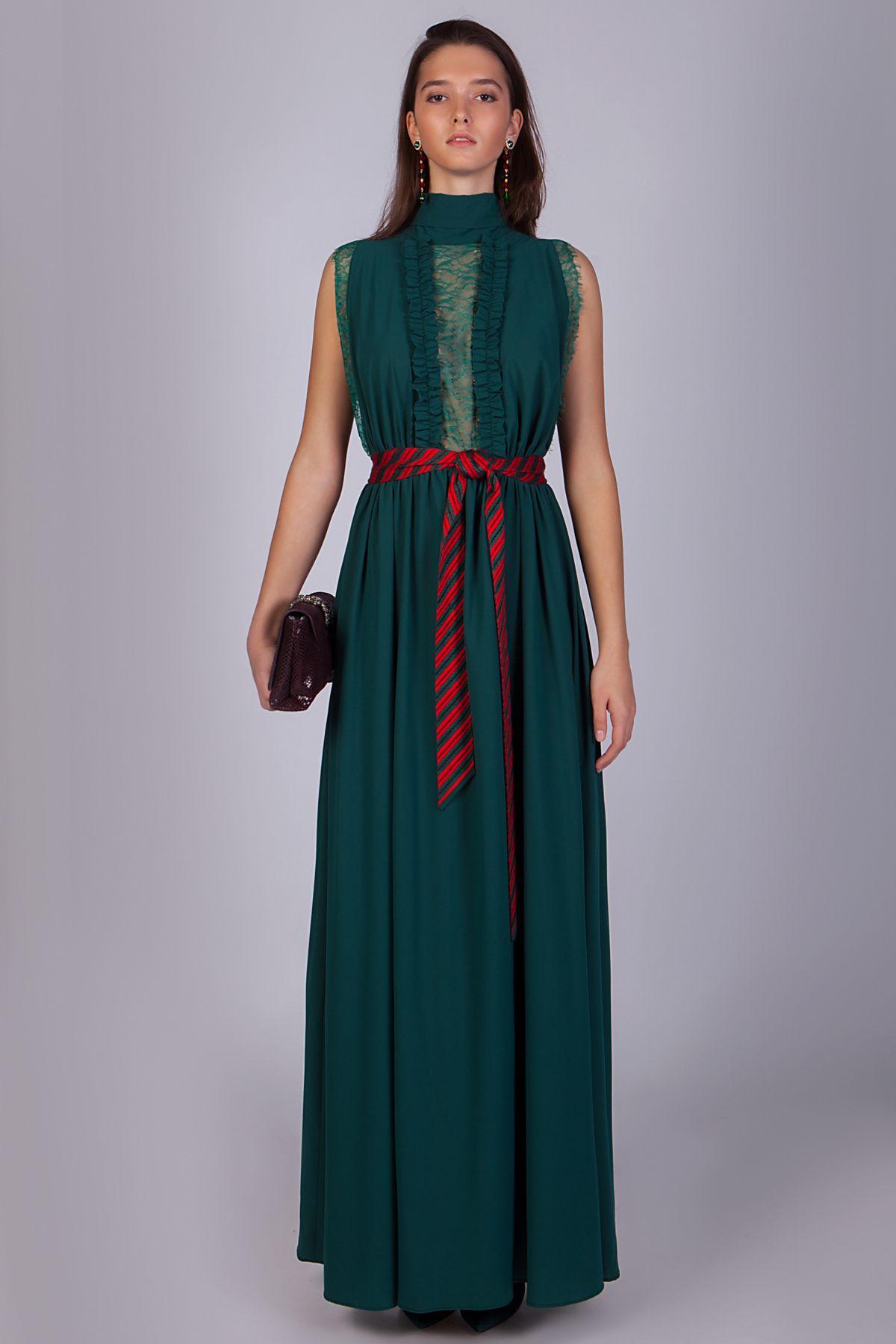 029b804e7d8c Длинное вечернее платье изумрудного цвета   Купить вечернее платье в ...