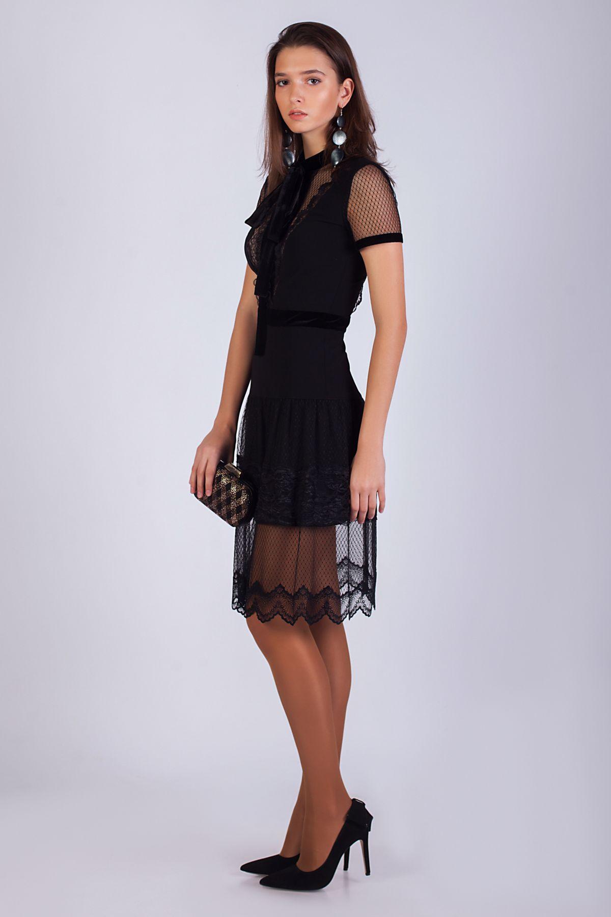 Купить дизайнерское короткое черное платье Roman Rush   Платье ... dd54cd6ad07