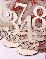 числа на стол деревянные